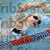 Finalist: Terre Haute North's Katie Guell practices Wednesday afternoon as she prepares for the state swimming finals.