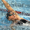 Backstroke: Terre Haute North's Emily Richards swims the backstroke as part of her preparation for the state swimming finals Wednesday afternoon.