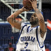 Jumper: Indiana State's #3, Rashad Reed takes a shot at the end of the first half Wednesday night against Drake at Hulman Center.