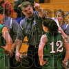 Teaching moment: West Vigo head girl's basketball coach Ryan Easton gives instructions to his team in the fourth quarter of their game at Terre Haute South.