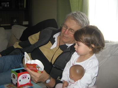 Mia with Papa Ben at Home