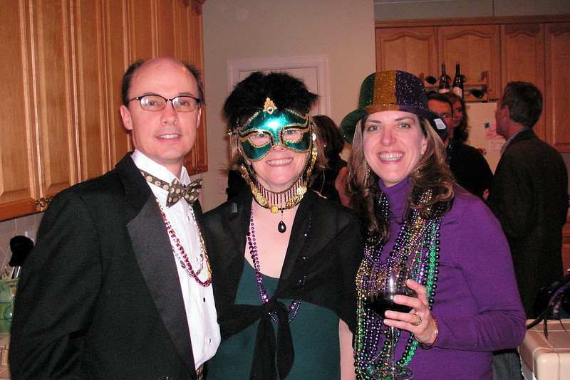 Mardi Gras Party - Edward & Margie with Elizabeth