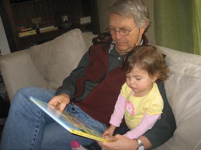 Mia Reading to Papa