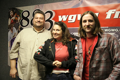 Audry Auld visits WGWG radio station in February of 2009.