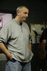 Marc Higgins at WGWG Radio Station.
