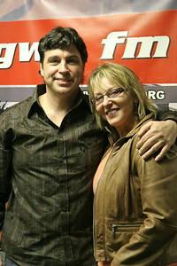 Robin and Tony Rogers at Gardner-Webb's radio station WGWG; February 20, 2009.