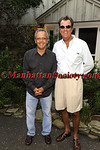 SAG HARBOR-AUGUST 14: Mike Lupica & Kevin McEneaney attend First Pitch Cocktail Party to Celebrate Artists & Writers 61st Anniversary Softball Game at the Home of Debbie & Kevin McEneaney, Sag Harbor, NY (Photo Credit: ©ManhattanSociety.com by Gregory Partanio)