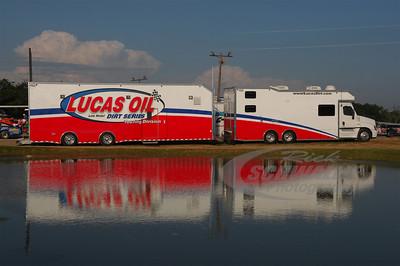 Lucas Oil Late Model Dirt Series truck built by 5150 Race Trailers
