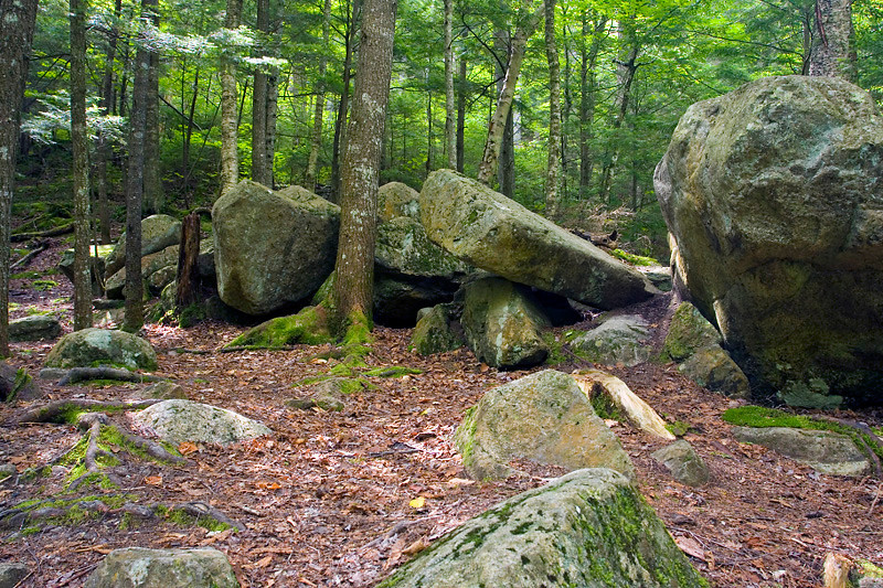 Glacial Boulder at The Flume Gorge Franconia Notch State Park NH