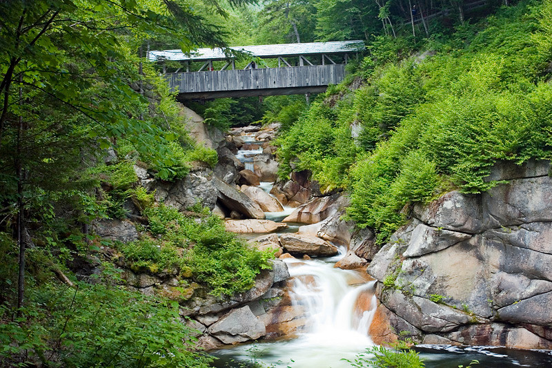 Sentinal Pine Covered Bridge - No.38 Located along the Flume walkway in the Franconia Notch State Forest