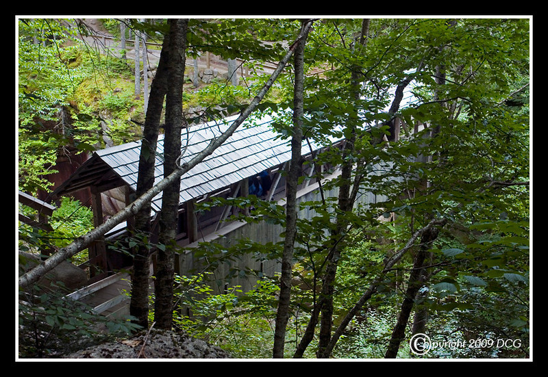 Sentinal Pine Covered Bridge - No.38<br /> Located along the Flume walkway in the Franconia Notch State Forest