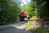 Flume Covered Bridge - No.39 at The Flume Gorge Franconia Notch State Park NH
