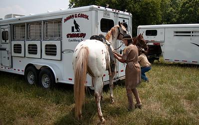 Getting saddle on