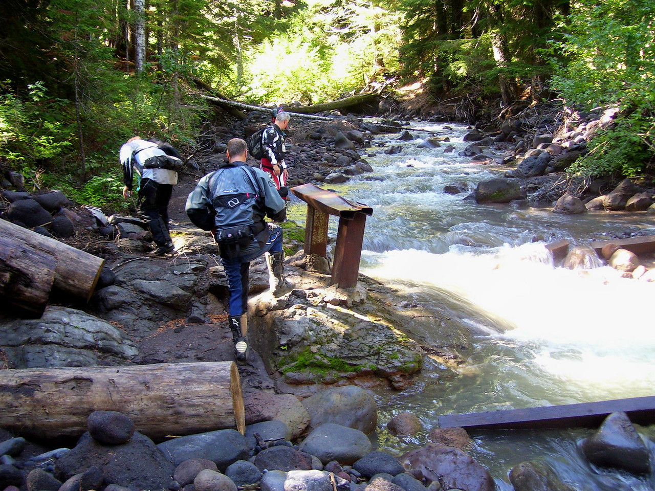 Washed out bridge on 116 Trail