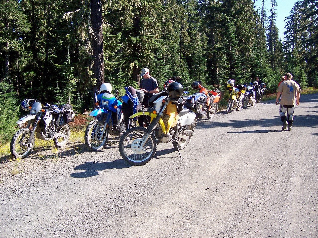Sylvia & I had 8 other riders with us.