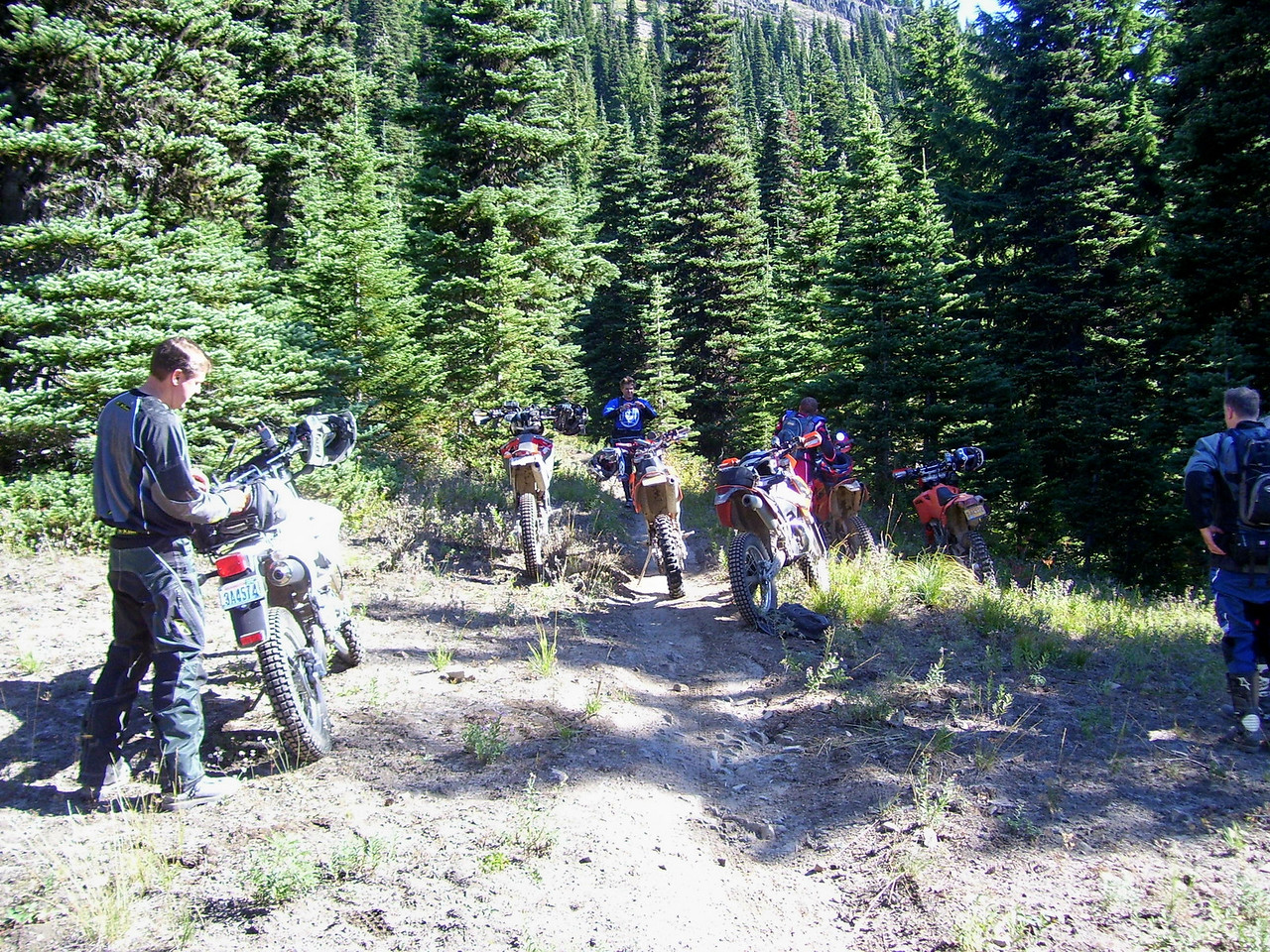 Friday we had two rides going. This is Rob's Blue Lake Loop trail ride.