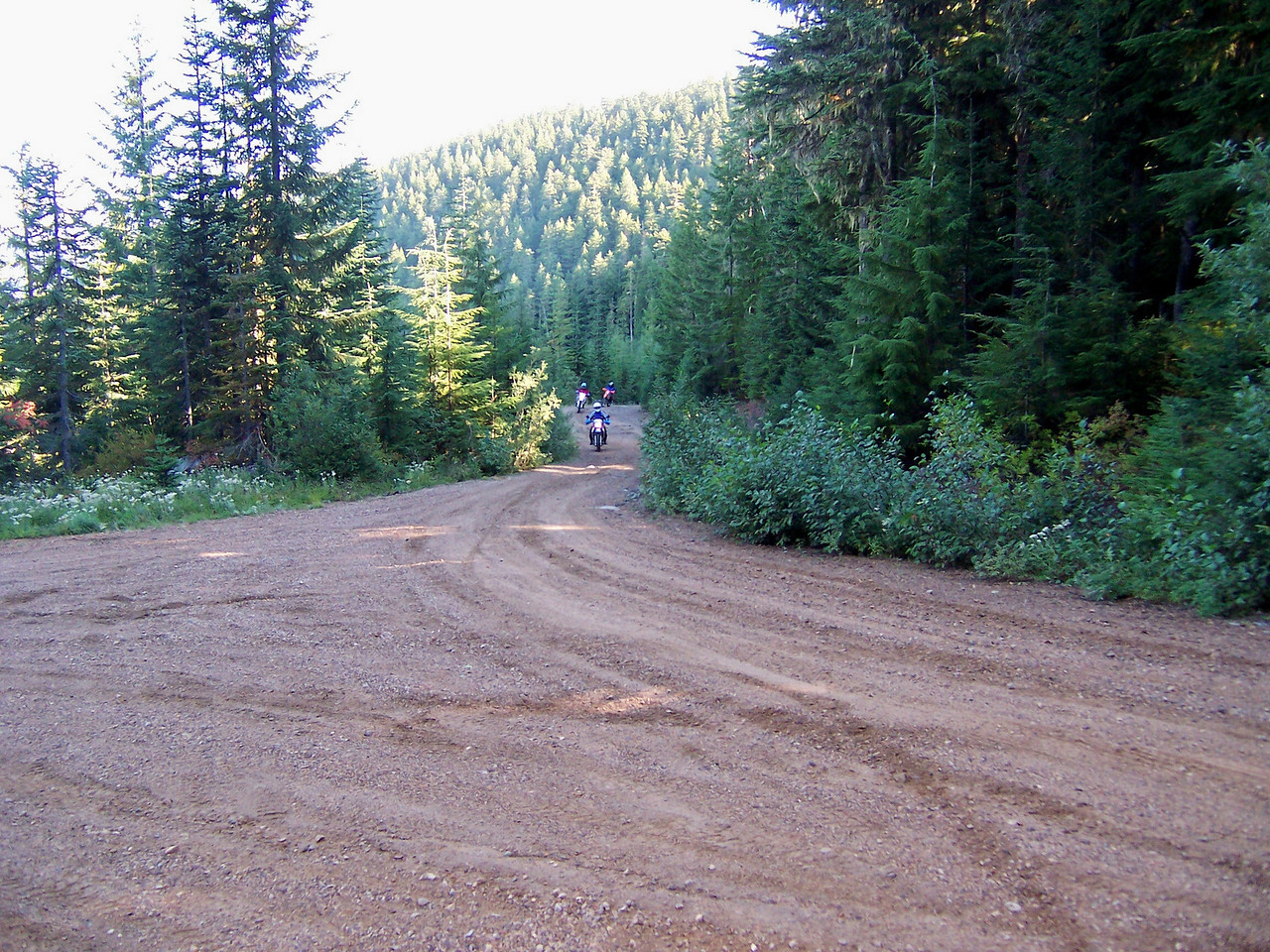 Saturday we had four rides going. This is the 5601 road & the start of Lan's Mt. St. Helens ride Dual Sport ride.