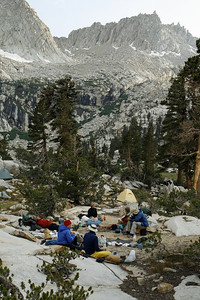 Big Five Lake Campsite near the rear of the canyon.