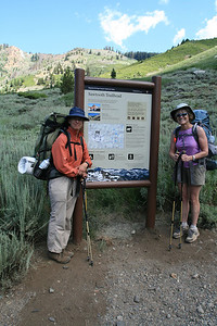 Virginia and Gayle at Sawtooth Trailhead.