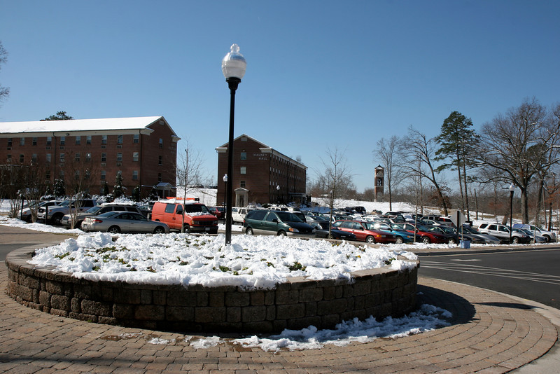 Shots of GWU campus just after a large snow; 2009.