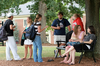 Students on the Quad; 2009.