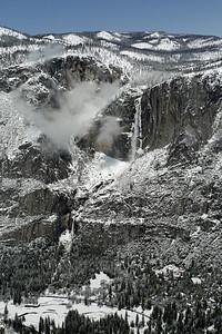 Yosemite Falls and a visiting cloud.