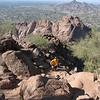 Arrived in Phoenix, Greg took me to CamelBack Mountain