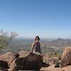 Ahhhh, made it to the top of Camelback Mountain, great views