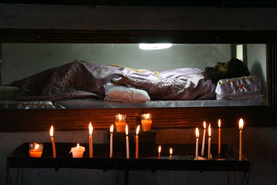 Jesus in a coffin