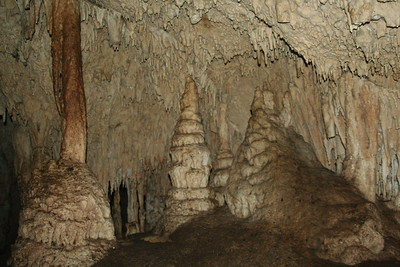 A great cave, not sullied by smoke from thousands of visitors' candles