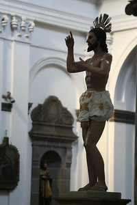A god in a bloody loin cloth