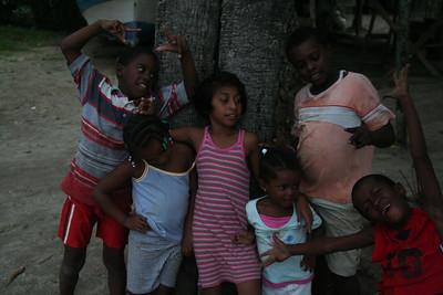 Garífuna kids clowning around
