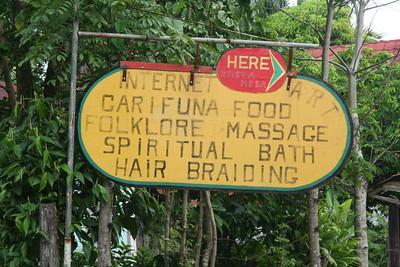 Eclectic services at Rasta Mesa, a Garífuna cultural center