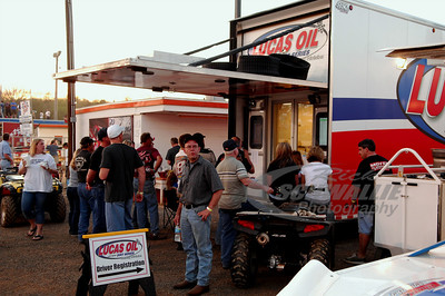 Race teams flock to the Lucas Oil Late Model Dirt Series trailer to capture time trial results real time as they happened.