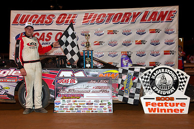Brad Neat in Victory Lane @ Hagerstown Speedway