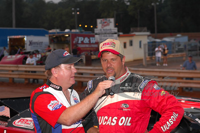 Earl Pearson Jr. and series announcer James Essex