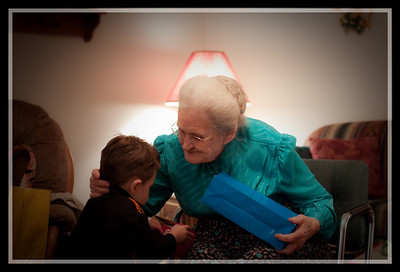 Granny Hulvey give Jack a halloween bag