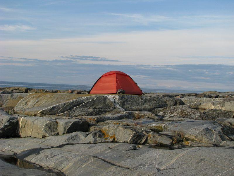 Kattis tält på Håkanskär