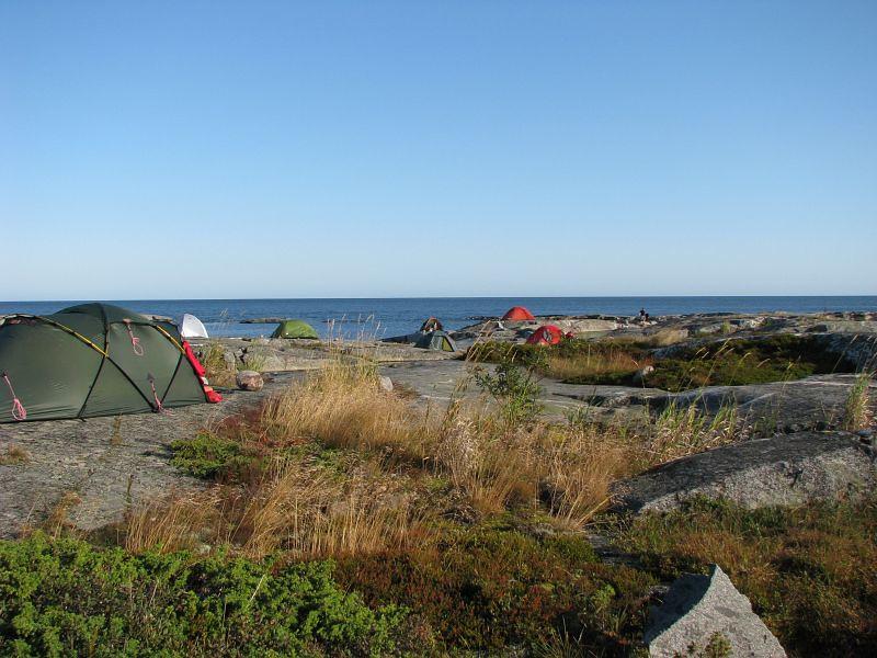 Tälten vid Håkanskär