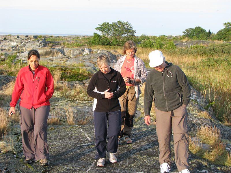Karin, Eva,  Ewa och Inger på övandring