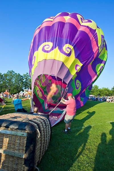 Hot Air Balloon at the 28th Annual Pittsfield NH Rotary's Hot Air Balloon Rally 2009