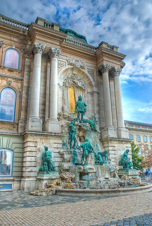 Matthias Fountain at the Royal Palace. Normal looking HDR