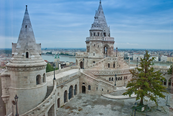 Fisherman's Bastion was made as a pretty backdrop to Matthias Church.  This was the view from my hotel room in Budapest (The Hilton Budapest).