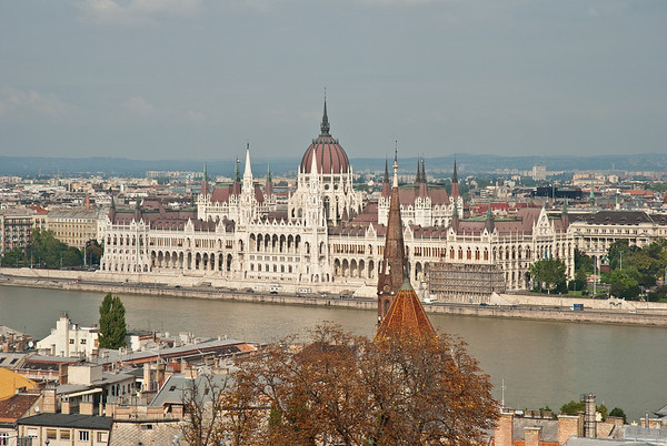 Hungary's Parliament building, seen from Fisherman's Bastion.