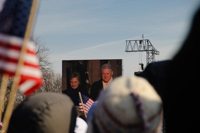 Senator Clinton and former President Clinton