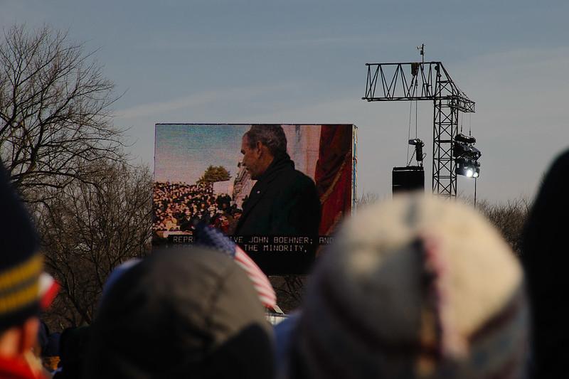 Silence for former President George W. Bush