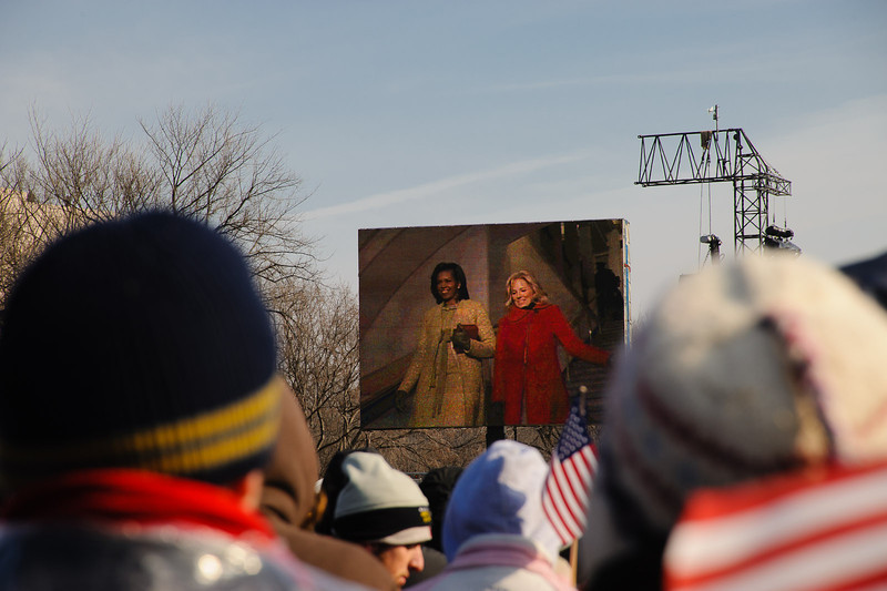 First Lady Michelle Obama and Jill Biden