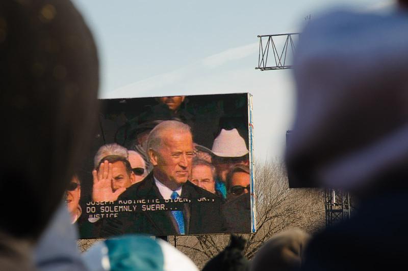 Joe Biden swears the oath of office