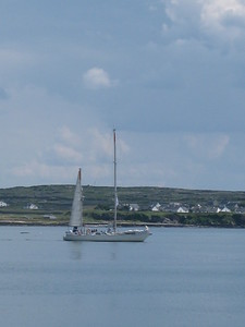 Sailboat in the Harbor at the Aran Islands - Kimberly Collins