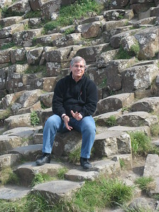 Bill Neidig relaxing at the Giant's Causeway - Kimberly Collins